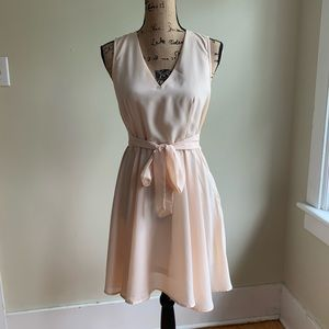 ISSI pink belted dress size M